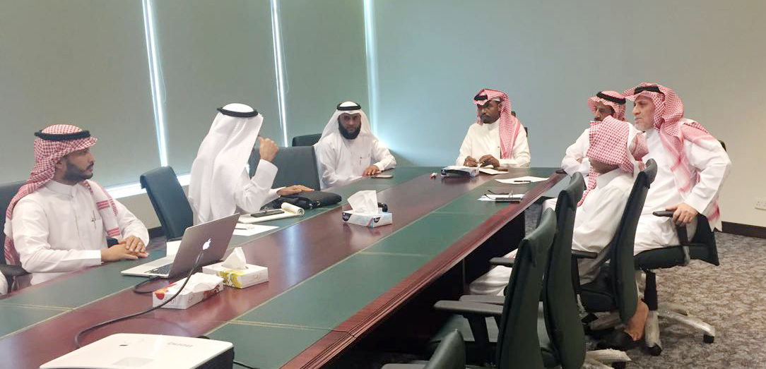 A meeting at the headquarters of the General Authority for Meteorology and Environment Protection chaired by Deputy Chairman of the General Authority for Meteorology and Environmental Protection
