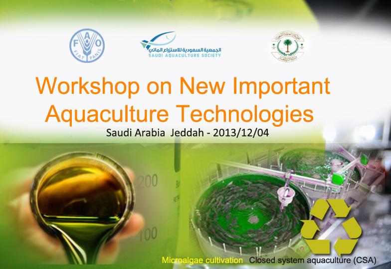 Workshop on New Important Aquaculture Technologies